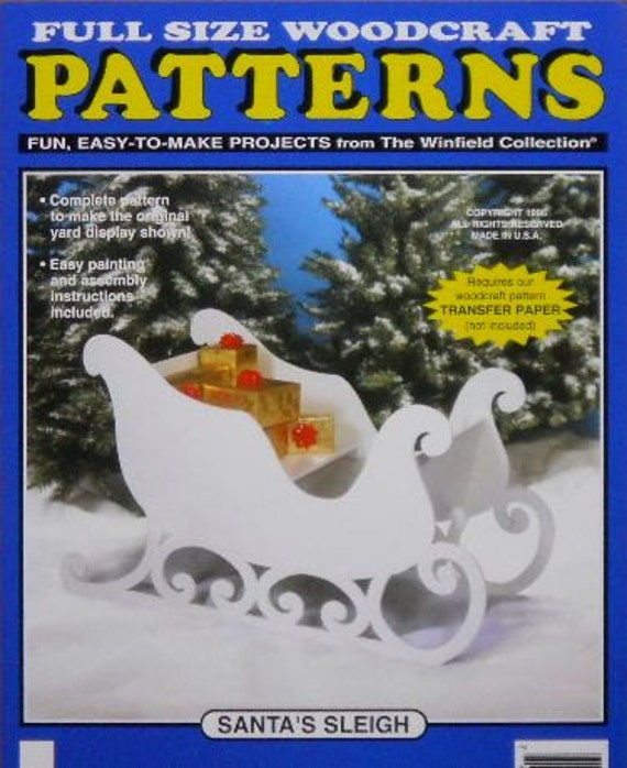 Santa s sleigh large size wood craft pattern by docholidays