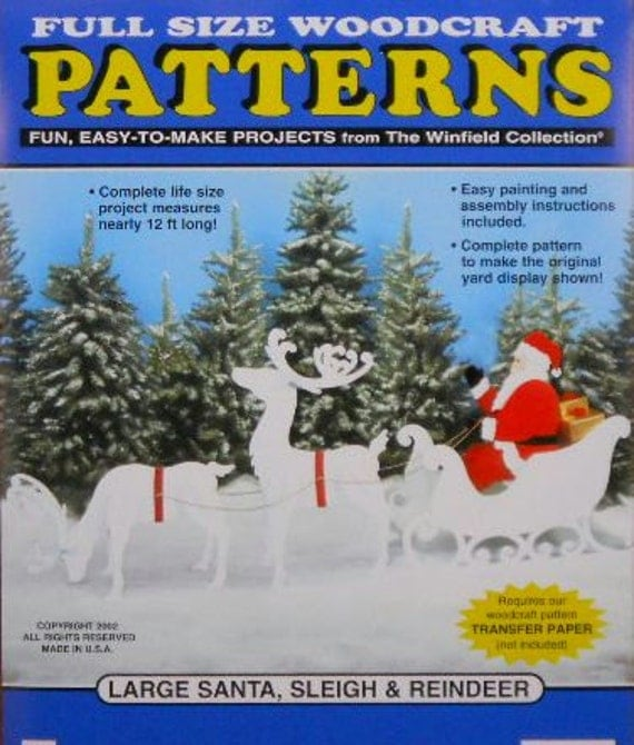 Reindeer And Sleigh Wood Patterns