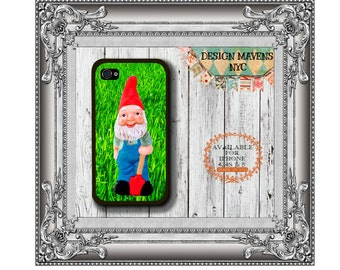 Happy Gnome iPhone Case, Cute Gnome Phone Case, Plastic iPhone Case, iPhone 4, 4s, iPhone 5, 5s, iPhone 6, 6s, 6 Plus, Phone Case