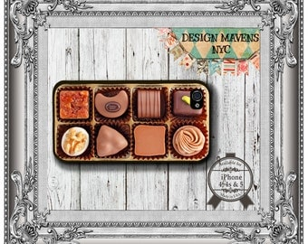 Box of Chocolates iPhone Case, Candy iPhone Case, Plastic iPhone Case, iPhone 4, iPhone 4s, iPhone 5, iPhone 5s, iPhone 5c, iPhone 6