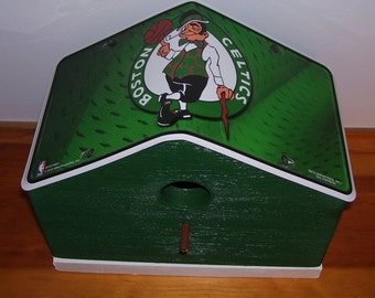 Boston Celtics License Plate Birdhouse/Fathers Day Gift, Sports, NBA, Basketball, Birthday, Mothers Day, Christmas Gift