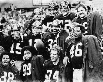 Pittsburgh Steelers Team Art Lithograph '75 only 50