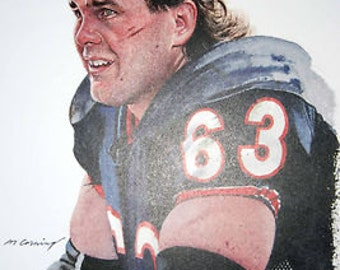 Great Jay Hilgenberg Chicago Bears Print