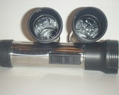 3 Metal Flashlights Bodies Found Objects Supplies Assemblage 3D Collages