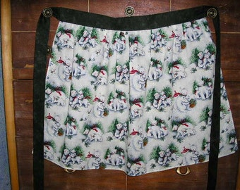 Polar Bear Play Time Christmas Apron