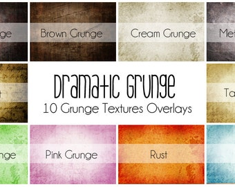 Dramatic Grunge - 10 Grunge Texture Overlays for Photographs