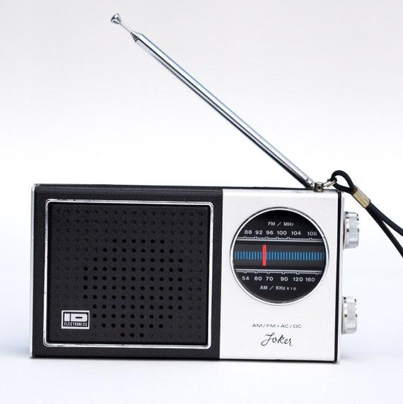 vintage Joker AM/FM radio, working mid century portable stereo, model pf-202 id electronics rare