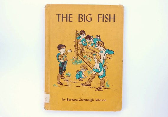 1959 the big fish vintage 1950s children 39 s library book for Big fish book