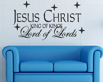 Jesus Christ  Christmas Family  Vinyl Lettering wall words graphics Home decor custom