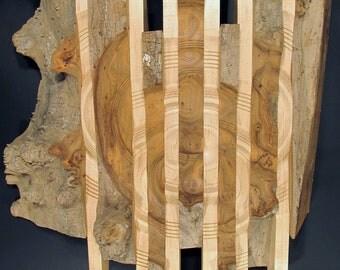 "Sculpture Wall Hanging, ""Gargoyle"", wall art, wood turning"