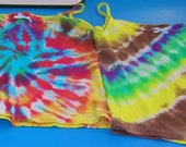 Girl's camisole cotton hand dyed top. beautiful and stylish. size girl's small, medium, large, or extra large'