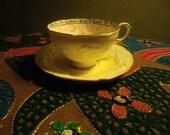 1920's-30's Lemon Chiffon Paragon Fortune Telling Teacup