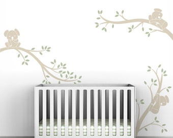 Neutral Tree Wall Decal Baby Nursery Decor Tree Wall Decals Childrens Decor - Koala Tree Branches by LittleLion Studio