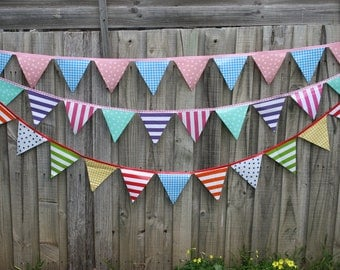 Made to order -Outdoor waterproof bunting- choose your own colours