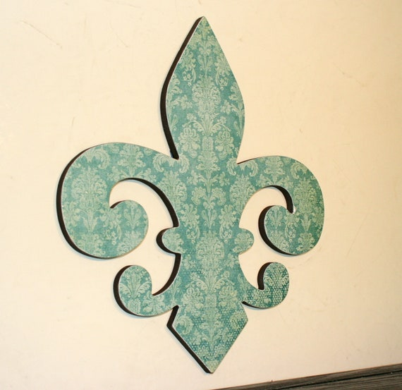 Fleur De Lis Wall Decor Turquoise Wall By Finchnwillowboutique