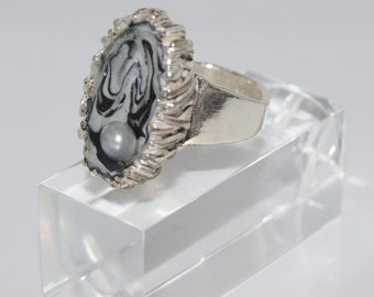 Ring Silver Pearl - R154