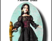 LENORE 22 a pattern for Tonner 22 inch  American model dolls A Great Romantic or Gothic Outfit Pattern