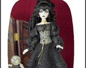 """ONYX PATTERN For Evangeline Ghasly17"""" BJD Tonner Wilde A gothic Pattern for A Girl with the love of Vintage Fashion"""