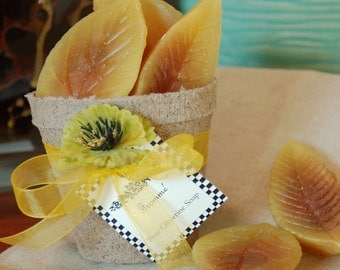 Fall Basket of Leaves Decorative Soap