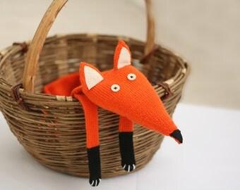 Childrens Fox scarf  - Fox scarf kids - Fox knitted scarf - Knitted scarf - Child scarf - Knitted woman scarf - Knit scarf