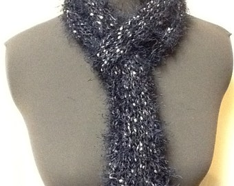 Navy Blue With White Fleck Scarf