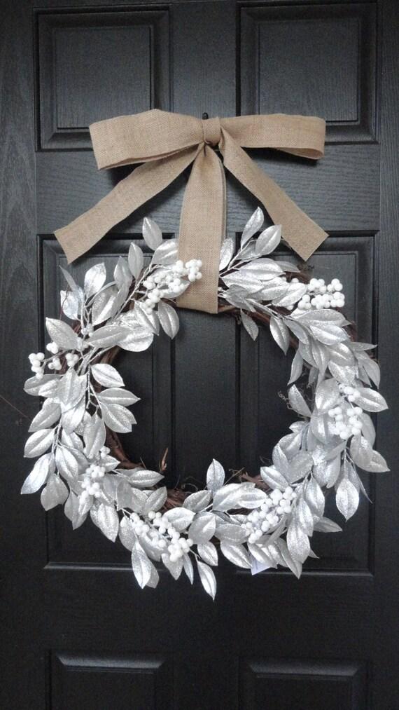 The Perfect Winter Door Wreath Silver Christmas Wreath