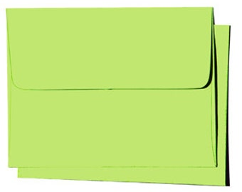 25 A7 Sour Apple Green Envelopes for 5x7 color cards and invitation