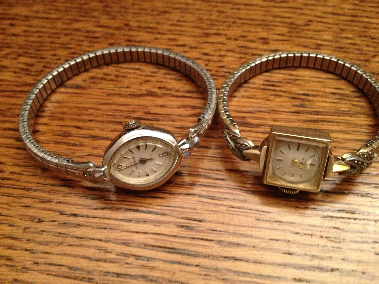 2 vintage antique s watches helbros girard by