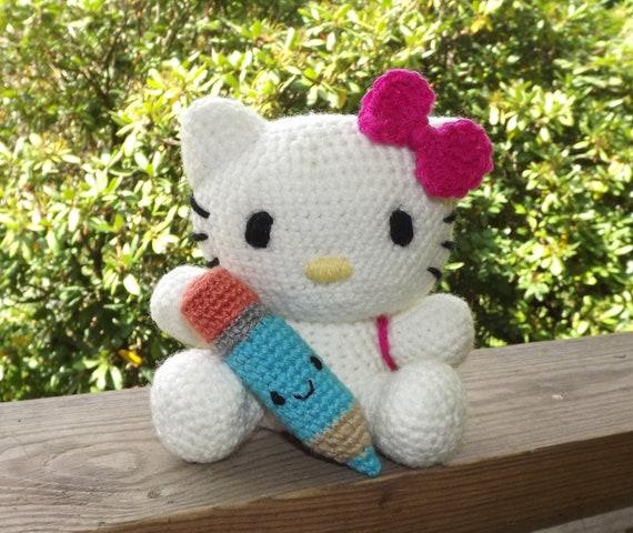 Crochet Doll Hat Pattern Free : Hello Kitty Amigurumi