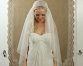 On Sale - 42 Inch English Net Bridal Cap Wedding Veil - Ivory - new and unused - Treasury Item