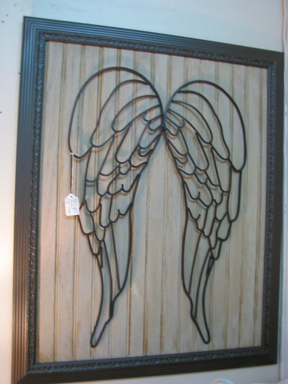 Items similar to shabby chic rustic faith framed angel for Shabby chic wall art
