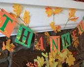 THANKFUL Thanksgiving Banner Fall Colors