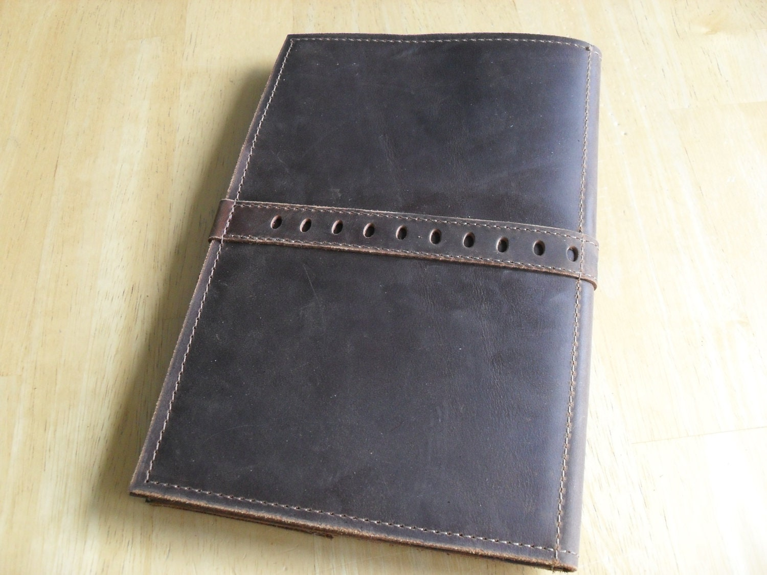 small leather portfolio or writing case the