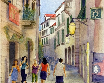 Dubrovnik evening - fine art print