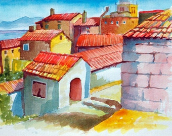 Spanish village - fine art print