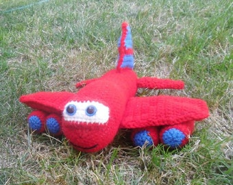 Crochet Pattern - Red the Airplane