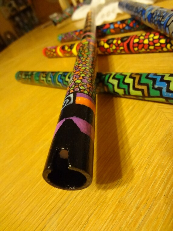 Quena in G (Hand painted Flute, handmade, unique).33