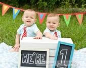 Chalkboard Set Of 2 - Small Chalk Board - Wedding Decoration - Children's Birthday - Christmas Gift - Photo Prop - FREE SHIPPING