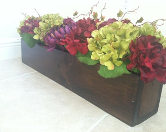 Custom Wood Flower Boxes for Weddings or Home Decor
