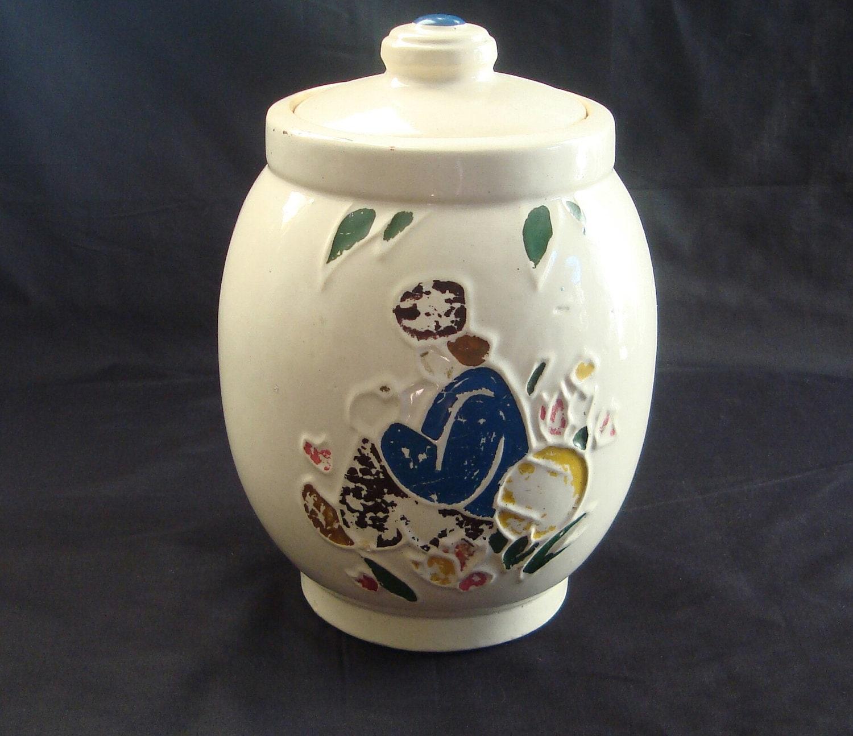 Vintage Mccoy Pottery Dutchman Cookie Jar By