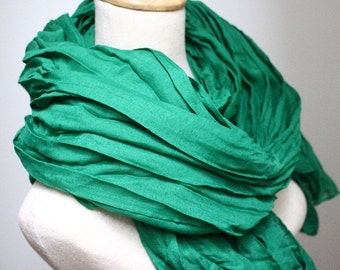 Plain Green Fall Scarf