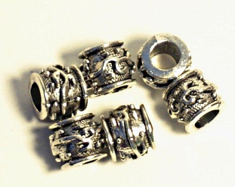 Free Shipping 20pcs Pewter  Beads Charm Fit For European  Bracelet