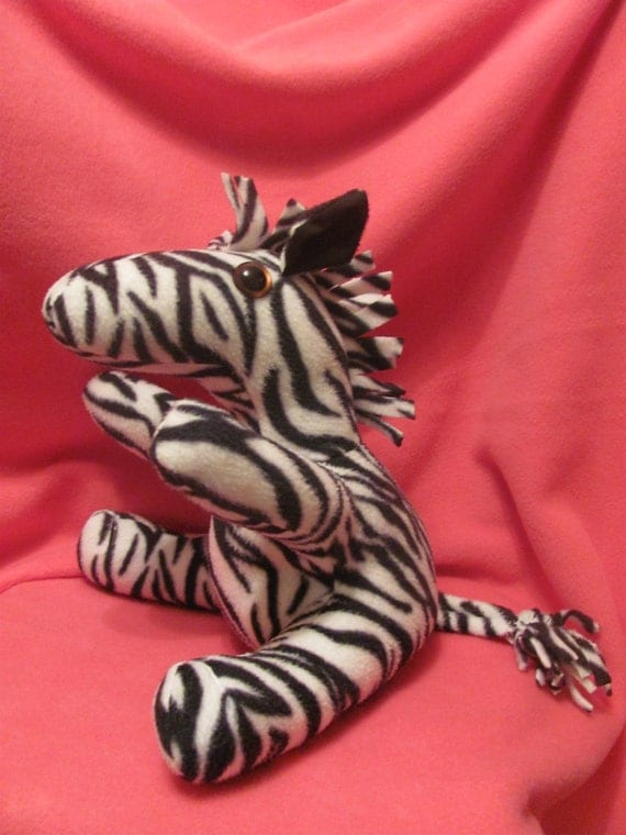 14 inch Zebra Plush stuffed animal