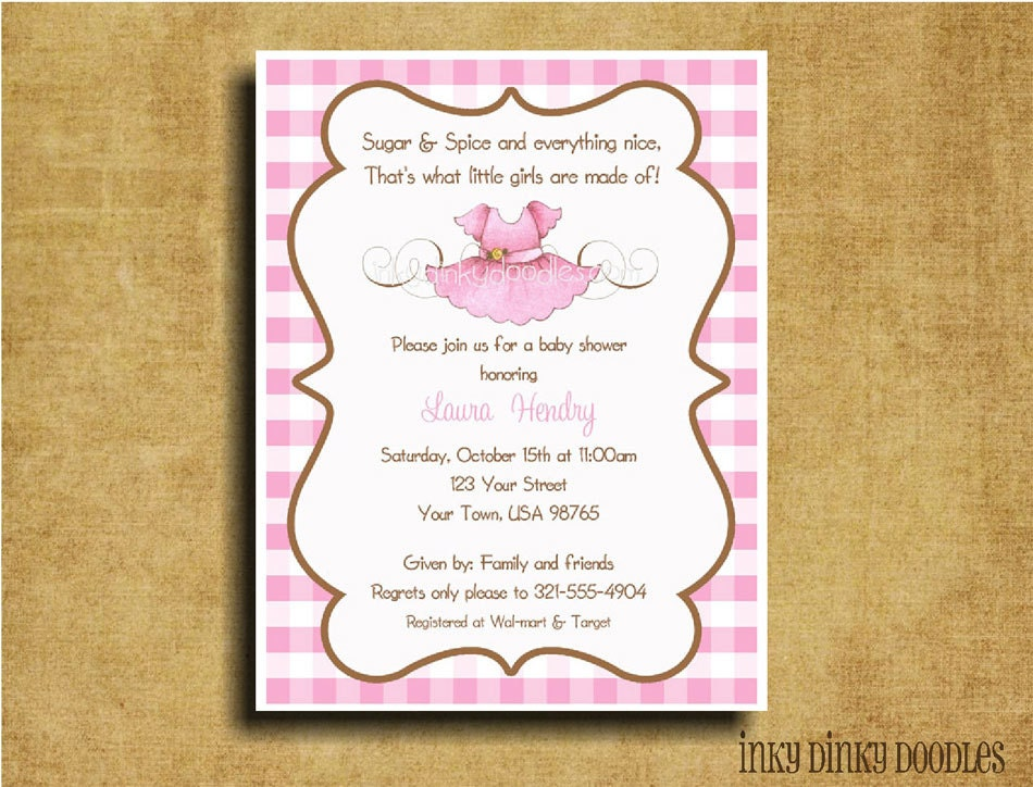 items similar to sugar and spice baby girl shower invitation on etsy