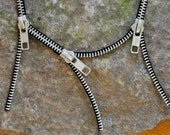 Crazy Zips: Black Zipper Necklace