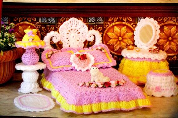 Doll Furniture Crochet Pattern Book By Happinessandyarn