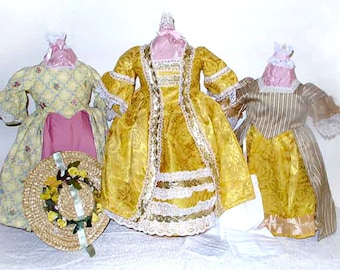 "The Golden Flowers Historic 18"" Doll Fashions Collection"
