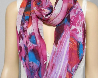 Infinity Scarf  Gorgeous Colorful Watercolors