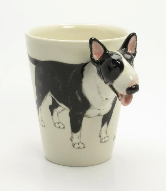 Wedding Gifts For Dog Lovers: Items Similar To English Bull Terrier Coffee Mug A Unique