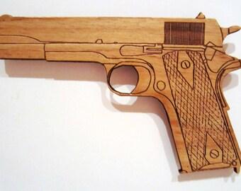 M1911 Pistol Wooden Fridge Magnet